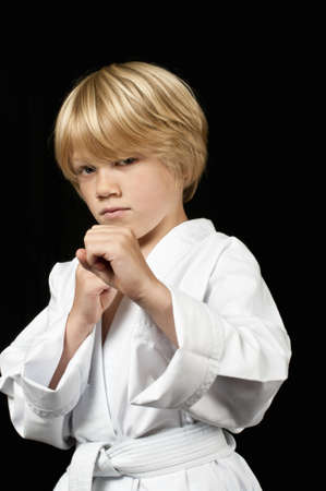 16714075: Karate kid Stock Photo