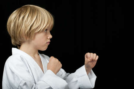 Karate kid training photo