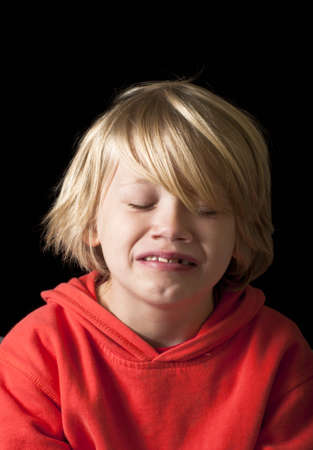 Boy crying photo