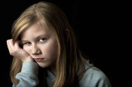 Depressed child Stock Photo - 18299598