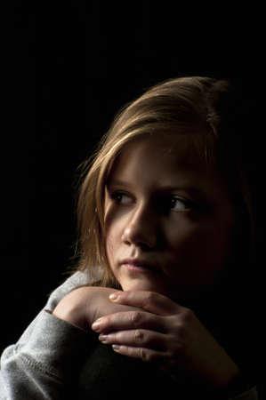 Victim of cyber bullying Stock Photo