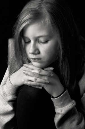 Sad little girl Stock Photo - 18693164