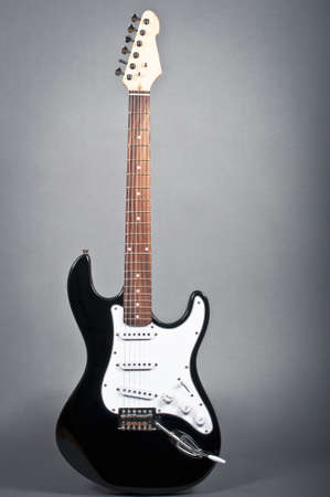 guitar amplifier: Black and white electric guitar