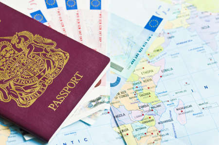 abroad: Travel documents Stock Photo