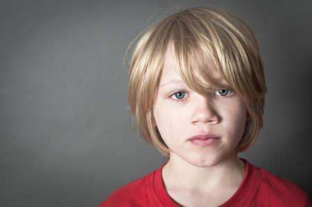 Shocked little boy photo