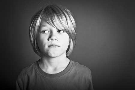 crying boy: Worried child