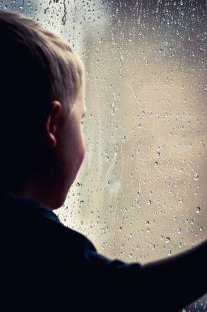 Retro rainy day photo