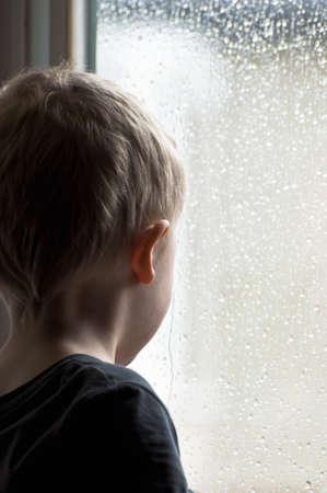 Watching the rain photo