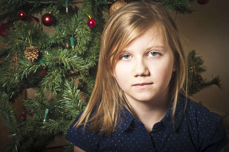 Lonely girl at christmas Stock Photo - 21452394