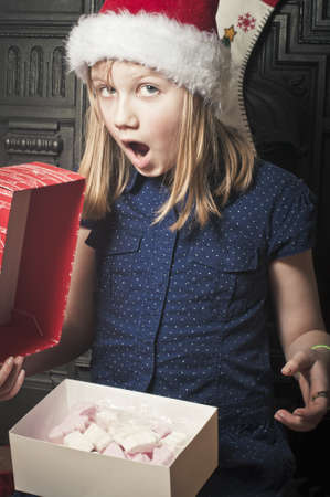 Childs christmas surprise Stock Photo - 21452457