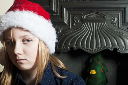 Lonely christmas child photo