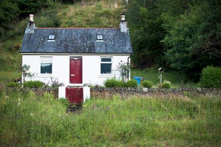 croft: Scottish cottage Stock Photo