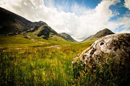 loch: Mountain scenery in scotland