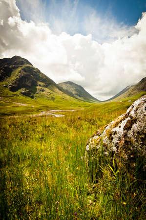 loch: Glencoe valley in scotland