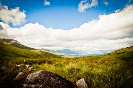 Mountain top in scotland photo