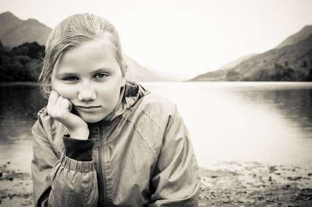 Bullied little girl photo