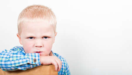 crying child: Angry child Stock Photo