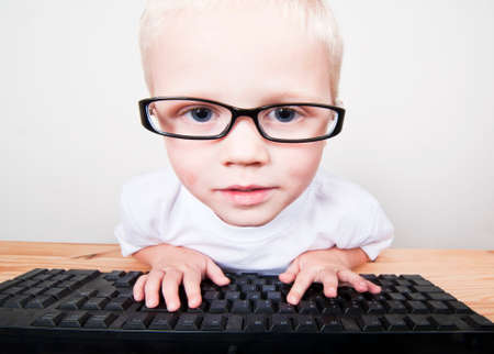 Clever child using a computer