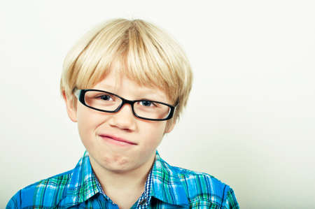 intelligently: Clever boy Stock Photo