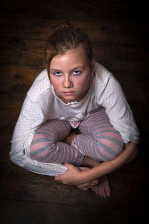 Sad girl photo