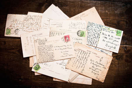 Collection of old vintage postcards dated between 1900 - 1930