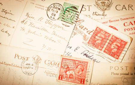 Weinlese postkarten Standard-Bild - 24870185