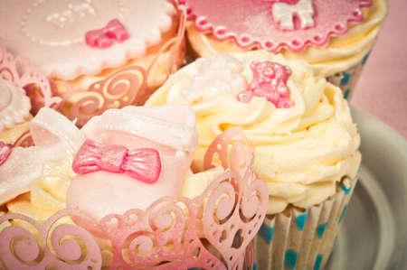 gumpaste: Cupcake detail Stock Photo