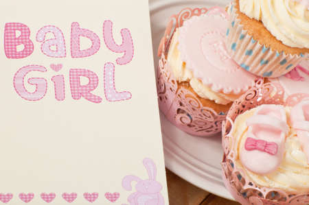 gumpaste: Newborn baby girl Stock Photo