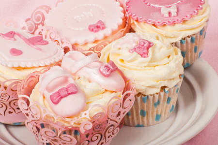 Cupcakes for a newborn baby photo