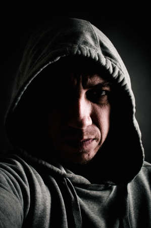 man in hoodie photo