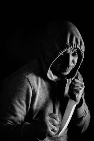 Robber armed with a knife