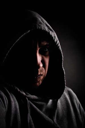 Evil and dangerous man photo