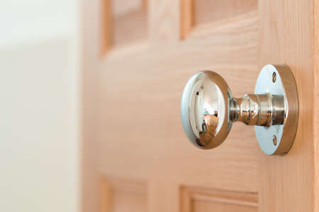 door handles: Modern interior door handle Stock Photo