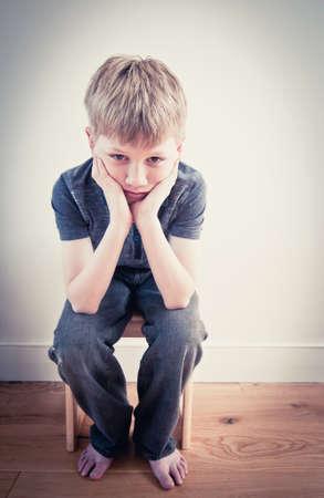 homeless children: Scared child alone