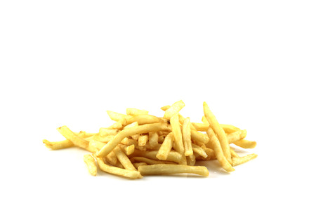 French fries isolated on white photo