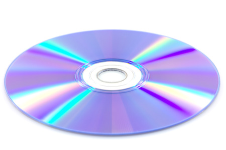 DVD disk isolate on white background photo