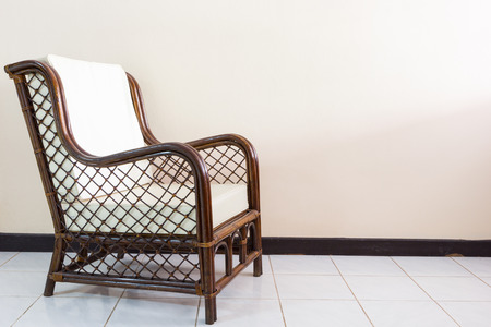 cane chair: wicker chair in the morning light