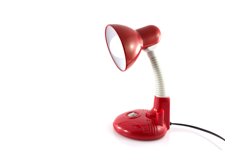 Desk lamp isolate on white background photo