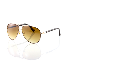 metal sunglasses isolated on white background photo