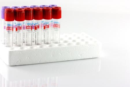 Tubes and needles isolate on white background Reklamní fotografie