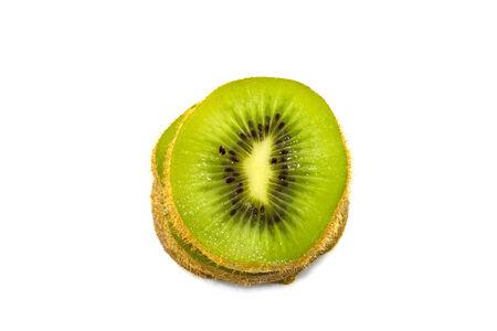 Sliced kiwi isolate in white background photo