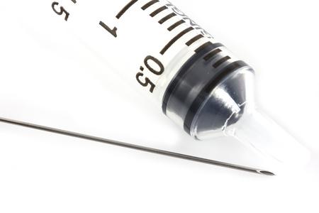 syringe isolate on white background photo