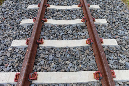 railtrack: railroad tracks on background