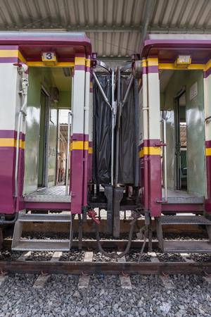 A train carriage at train station platform. photo