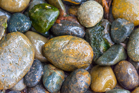 Wet river stone texture,Thailand photo