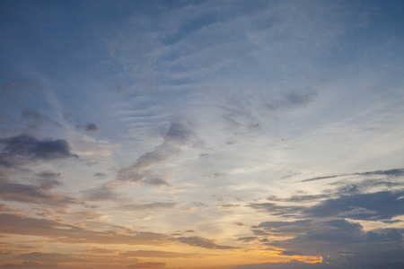 cloudiness: Sunset colorful sky and cloudiness, Thailand
