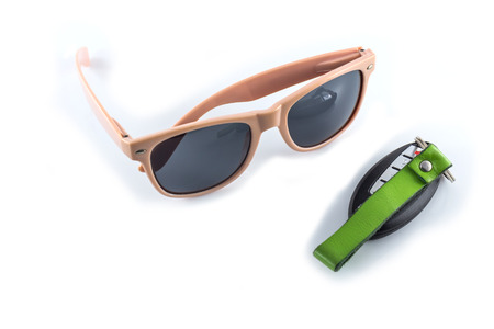 pink sunglasses with car keys photo