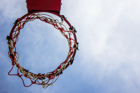 Basketball hoop and sky ,Sport
