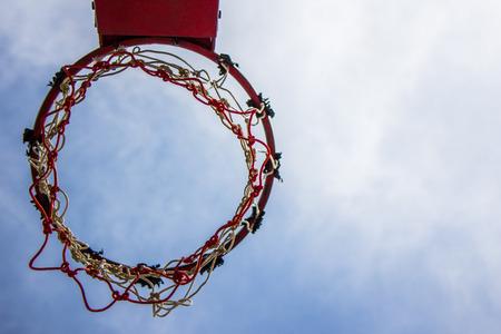 intramural: Basketball hoop and sky ,Sport