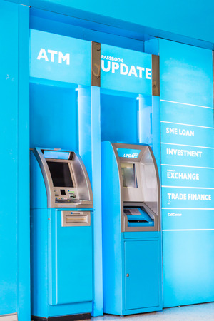 automatic teller machine: automatic machines, ATM machine Stock Photo